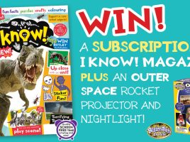 Win a subscription to I Know! Magazine For Curious Kids Who Love To Learn!