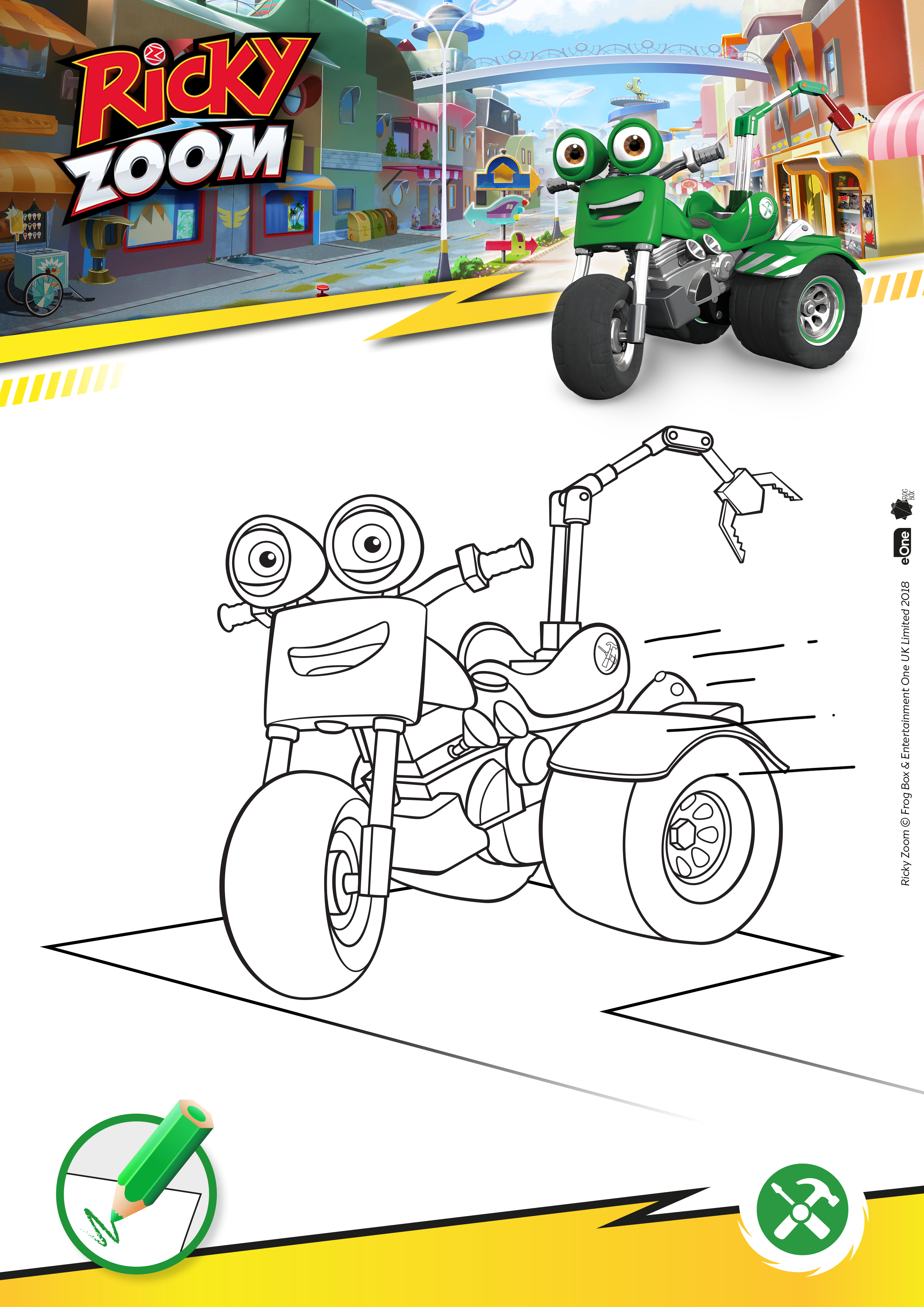 Download our Ricky Zoom Activity Sheets - UK Mums TV