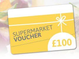 Win a supermarket voucher worth £100!
