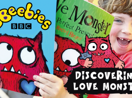 Watch this fab Love Monster video from Bella at Dear Mummy Blog!