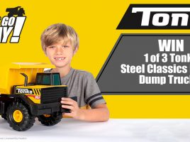 For a chance to win a Tonka Steel Classics Mighty Dump Truck!