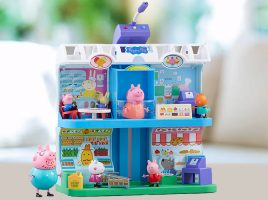 Celebrate the arrival of Peppa's Shopping Centre Playset