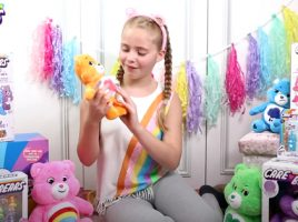 One of the UK's top child vloggers got her hands on some adorable Care Bears goodies