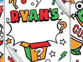 Surprise! FREE Ryan's World Activity Sheets to download!