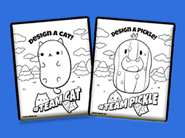 Download your FREE Cats vs Pickles activity sheets