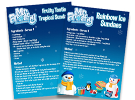 Make your own Mr. Frosty fruity slushies this summer!