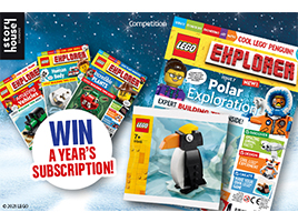 Win a year's subscription to LEGO Explorer magazine!