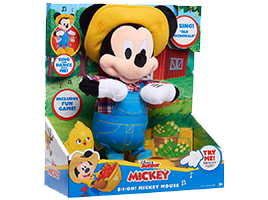 Chance to win 1 of 2 Disney Mickey Mouse E-I-Oh! Feature Plush